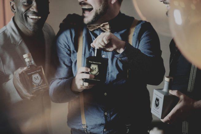 The Men´s Life 3 Jungs Rum Gin Vodka Shooting Kitz