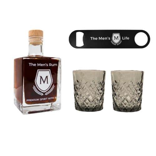 The Men´s Life Rum Set inkl. 2er Tumbler und Flaschenöffner